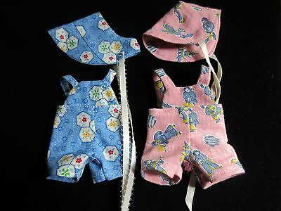 "Lot Of 2 Sunsuit Sets For 8"" Vogue Ginette Baby Doll"