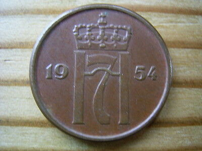 1954 Norway 2 ore  coin collectable