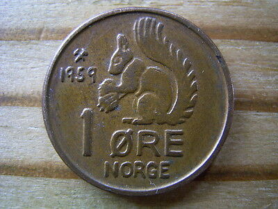 1959 Norway 1 ore  coin collectable