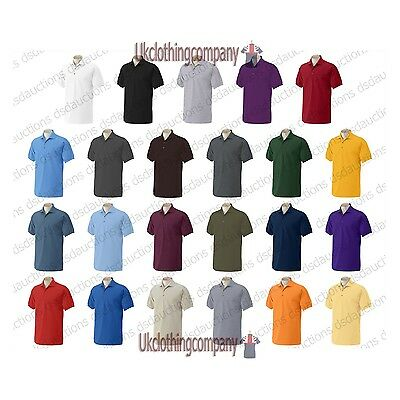 Gildan Ultra 100%* Cotton Plain Pique Polo T Shirt - Mens' tops S M L XL XXL