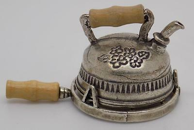 Vintage Solid Silver RARE Antique Teapot Miniature - Dollhouse - Stamped - ITALY