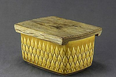 Rare Vintage  Quistgaard Relief B&g/kronjyden Butter Dish With Wenge Lid P4
