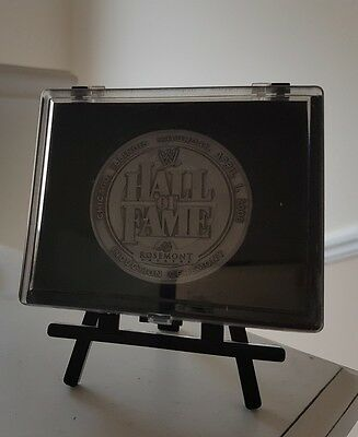 WWE Wrestlemania 22 Hall Fame Coin rare plaque frame (no belt championshp title)