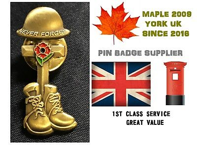 Limited 2017 All Gave Some Uk Veterans Soldier Red Poppy Enamel Pin Badge Brooch