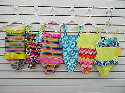 Toddler Girls Waves Assorted One Piece Swimsuits Size 3T