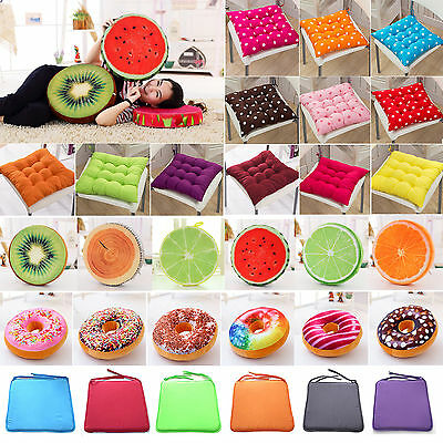 Removable Chair Cushion Soft Seat Pads Tie On Garden Dining Kitchen Patio Pillow
