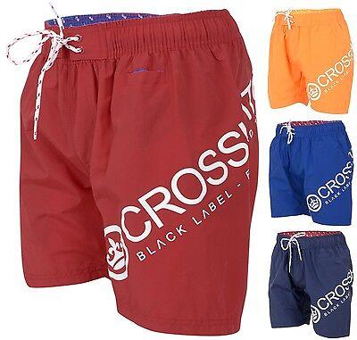 Mens Crosshatch Designer Swim Shorts New Mesh Lined Casual Beach Swimming Trunks