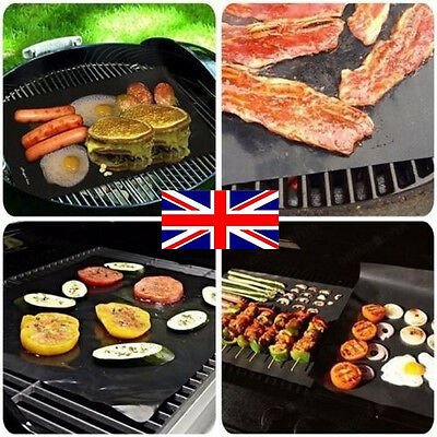 1/5PCS BBQ Grill Mat Reusable Resistant Non-Stick Barbecue Baking Sheet Cooking