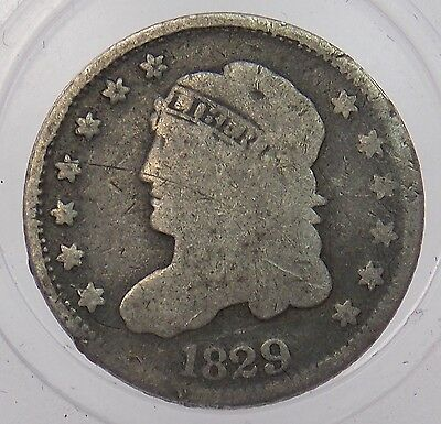 1829 Capped Bust Silver Half Dime Free Shipping (#5166)