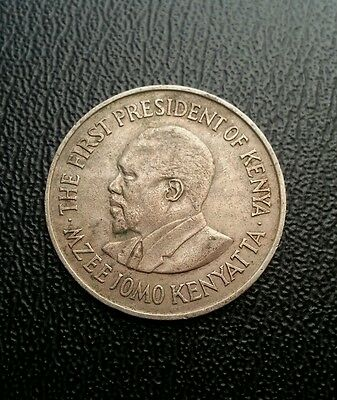 Kenya 1971 1 one shilling coin. World coin collectable