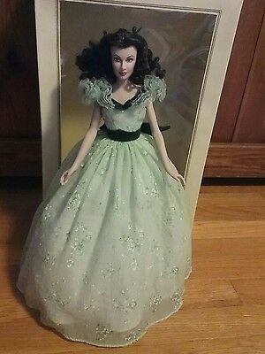 Franklin Mint Gone With The Wind Scarlett O'hara  Barbecue Doll Vinyl Nib
