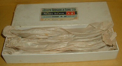 Vintage Boxed Unused Joseph Rodgers Nickel Silver Set Of 6 Table Forks 8 Inches