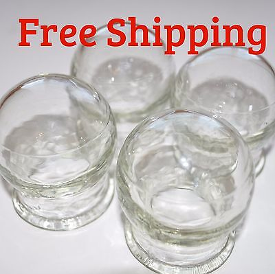 1-8pcs Cupping Medical Glass Cups Jars Fire Heated Vacuum Therapy Massage Health