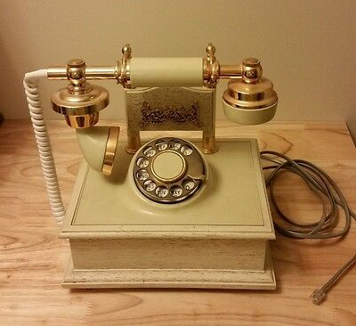 French Princess Cradle Telephone Rotary Dial Northern Telecom Vintage