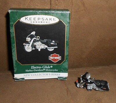 1999 Hallmark Miniature Ornament #1 Harley-Davidson Motorcycles Electra-Glide