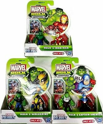 Playskool, heroes ,hulk , captain america, figures,Marvel, tv,film,avengers