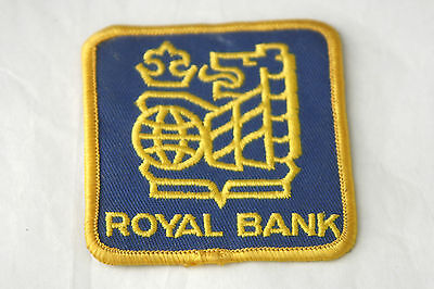 Vintage Sew on Patch Royal Bank of Canada Advertising Lion Blue Gold