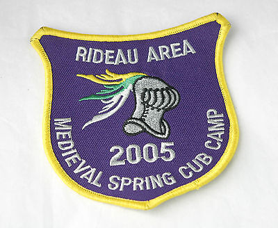 2005 Cubs Sew on Badge Patch Rideau Area Medieval Spring Cub Camp Purple