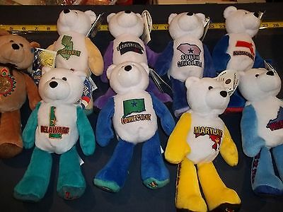 Lot of 9 Limited Treasure Coin Bears including coins