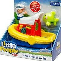 Fisher price, ship, ahoy, yacht ,boat,little people, TV, kids,ship,pre school