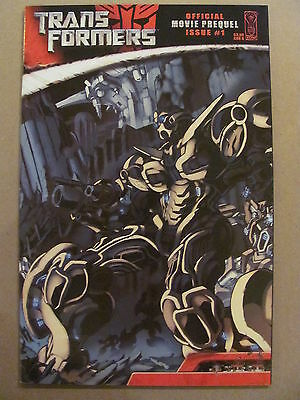 Transformers The Official Movie Prequel #1 IDW 2007 Series 9.4 Near Mint