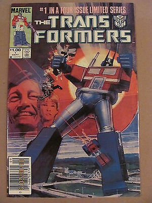 Transformers #1 Marvel Comics 1984 Series Canadian Newsstand $1.00 Price Variant