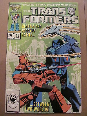 Transformers #18 Marvel Comics 1984 Series 9.2 Near MInt-