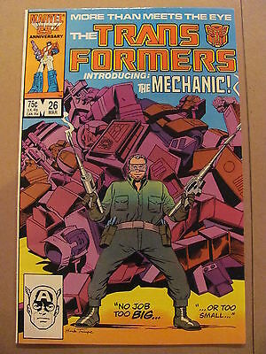 Transformers #26 Marvel Comics 1984 Series 9.2 Near MInt-