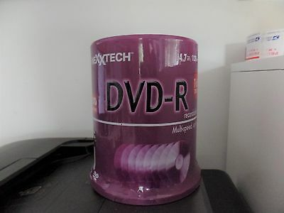 Nexxtech 100 Pk 4.7 Gb Dvd-R 120 Min Video Sealed