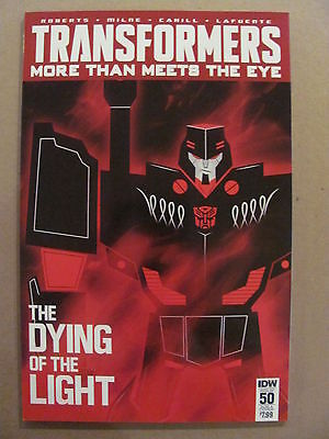 Transformers More Then Meets The Eye #50 IDW Sub Cover A Variant 9.6 Near Mint+