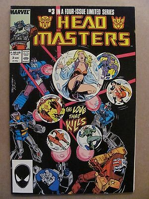 Transformers Headmasters #3 Marvel Comics 1987 Series