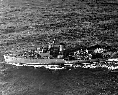 Royal Canadian Navy Corvette Hmcs Cobalt K124  With Stats And History Sheet