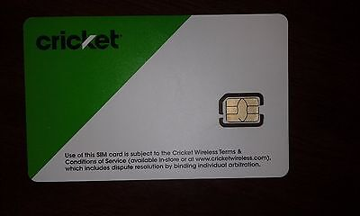 CRICKET 4G LTE NANO SIM CARD Good For Activation SGMN4004--New