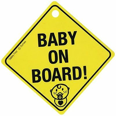 "Sumex BABYUUK - Cartello ""Baby on board"" con ventosa (o7s)"