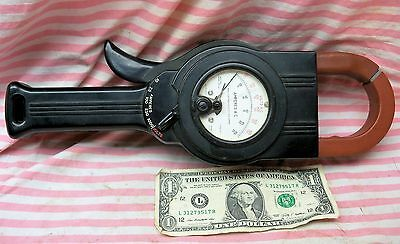Nice Vintage Weston 1000 Amp Clamp On Ammeter Amprobe 633-60 Type A-2