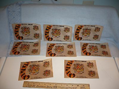 ESSO Gasoline Station Put a Tiger In Your Tank  8 Unused Decals 1960s Premiums