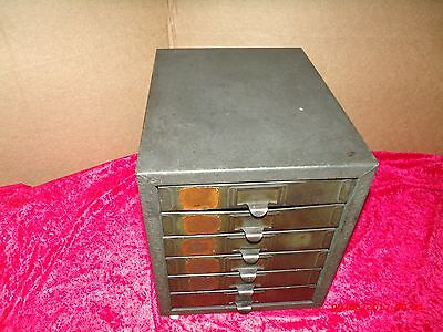 Vtg Kennedy Metal 6 Drawer Small Parts Cabinet Tool Box - Storage Bin Organizer