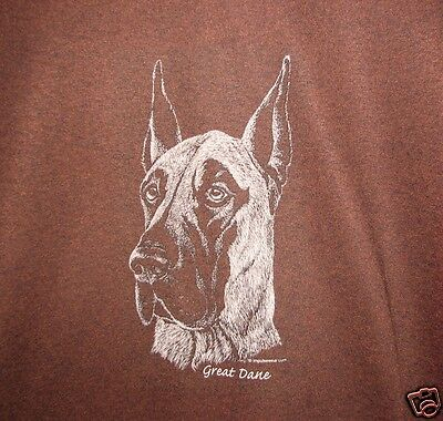 Great Dane  Dark Brown or Black Long Sleeve  Sweat Shirt .NEW! Your Size!