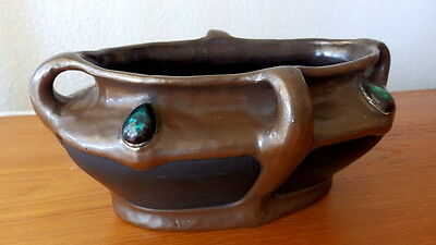 BRETBY Arts and Crafts Pottery with cabochons