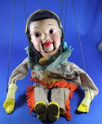 1950s Howdy Doody Indian Princess Summerfall Winterspring Marionette Puppet