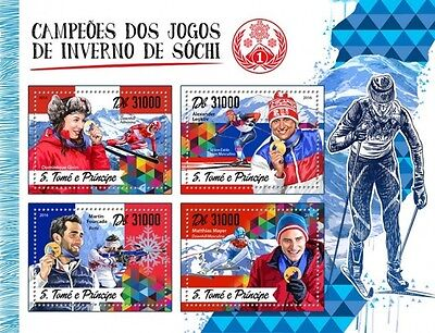Z08 IMPERFORATED ST16511a Sao Tome and Principe 2016 Sochi Winter Games MNH