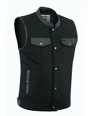Denim Club Style Vest > Anarchy style with Conceal Carry Gun pocket both sides