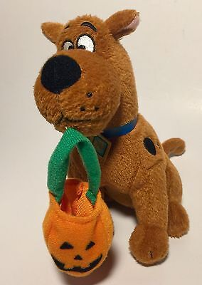 "7"" Scooby Doo Halloween Plush TY Beanie Babies Pumpkin Walgreens Exclusive 2009"