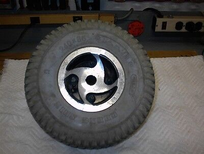 Rascal Scooter 600 Rear Wheel and Tire 260x85 Good Holds Air