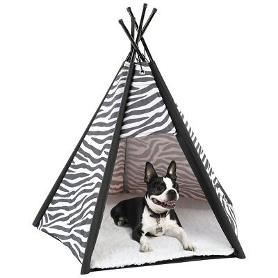 Small Pet Teepee Tent - Warm u0026 Cozy Soft Bed Padding For Dogs Cats  sc 1 st  PicClick : dog teepee tent - afamca.org