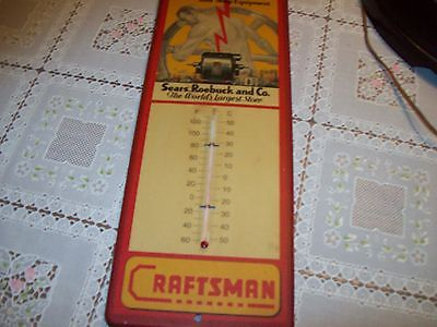 CRAFTSMAN ELECTRIC POWER TOOLS  Advertising Thermometer Metal WORKS!!!!!!