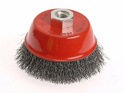 Faithfull Wire Cup Brush 100 x M14 x 2 Stainless Steel 0.30mm (x4S)
