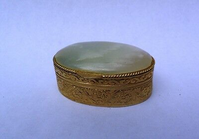 Chinese Small Medicine Box with Jade Cap
