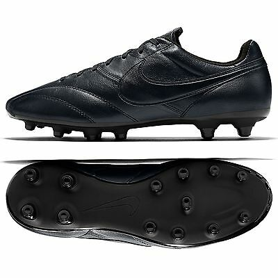 THE Nike Premier FG 599427-001 Black Kangaroo/Goat Leather Men's Soccer Cleats
