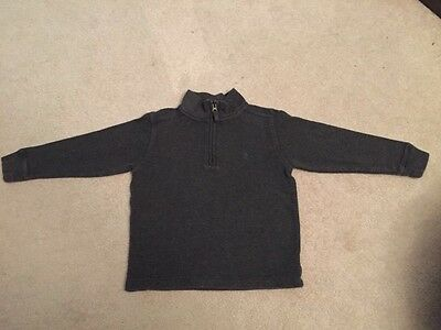 Boys Size 5 Polo by Ralph Lauren Gray 1/4 Zip Pullover